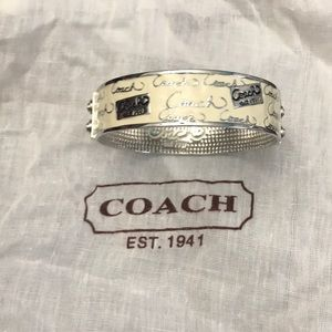 Authentic Coach Enameled bangle bracelet
